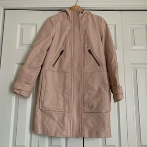 Pale pink winter coat from Boden, Size 4